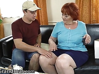 LustyGrandmas Mature Cougar Caught Touching her Box blowjob bbw