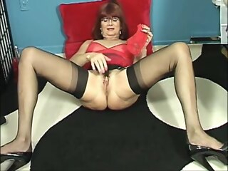 Unmitigatedly Hot Granny In Underclothes And High Heels Masturbating amateur granny