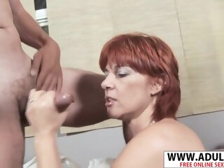 Busty Step Mommy Calliste Gives Blowjob Good Young Step Nipper cumshot hd