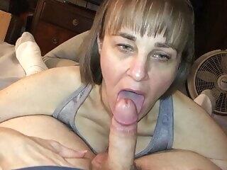 I love sucking cock blowjob mature