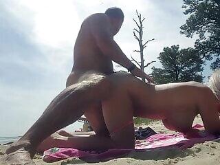 Hot beach wife amateur beach